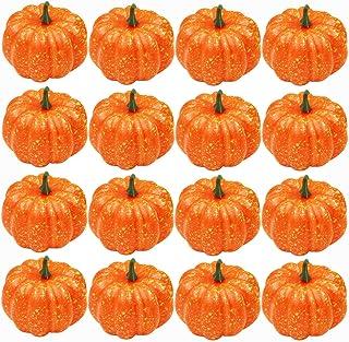 16pcs Mini Pumpkins, Fake Fruit Artificial Life Like Simulation Pumpkins Set, Fall Decor, Thanksgiving Decorations for Hom...