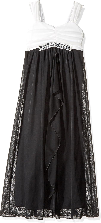 Amy Byer Girls' Big Sleeveless Maxi Dress with Jewel Trim