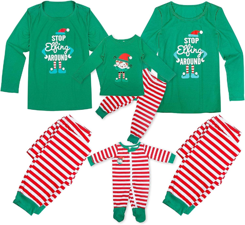 Dad Mom Baby Kid Family Matching Christmas Pajamas Sleepwear Homewear Set