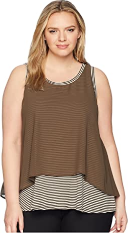 B Collection by Bobeau Plus Size Sydney Stripe Tank Top