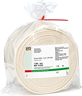 tg Cotton Stockinette,  100% Cotton Tubular Bandage for Protection Under Casts,  10 cm x 25 m Roll