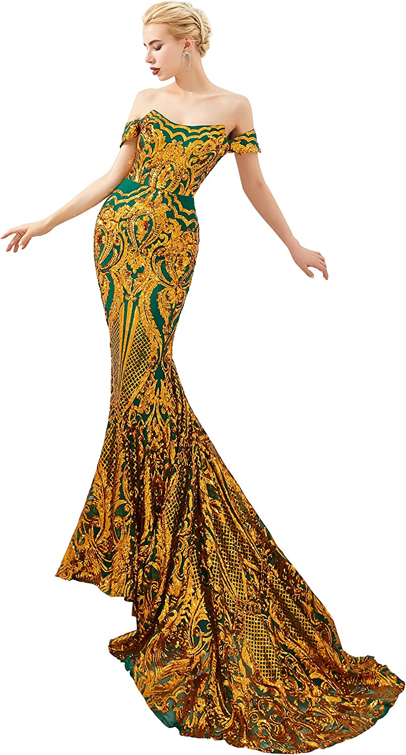 Adonis Pigou Mermaid Sequined Evening Party Prom Dress Celebrity Carpet Gown