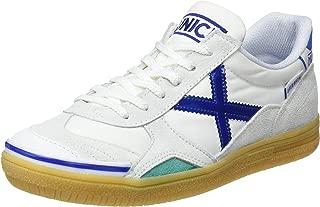 MUNICH - Gresca Kid 01 S - Indoor Soccer/Futsal Shoe - White/Blue