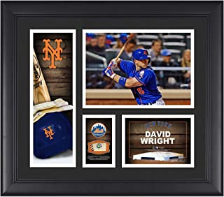 "David Wright New York Mets Framed 15"" x 17"" Player Collage with a Piece of Game-Used Ball - MLB Player Plaques and Collages"
