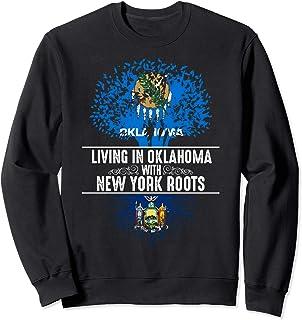 Sponsored Ad - Oklahoma Home New York Roots State Tree Flag Love Gift Sweatshirt