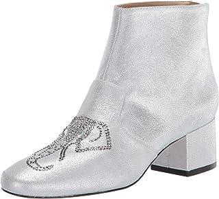 Katy Perry Women's The Rino-Soft Powder Metallic W/Elep Fashion Boot