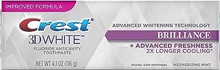 Crest 3D White Brilliance Advanced Whitening Technology + Advanced Freshness Toothpaste, Mesmerizing Mint, 4.1 oz