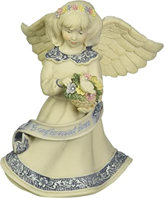 Sarah's Angels Confirmation Angel with Flowers Figurine, 4-Inch