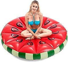 JOYIN Giant Inflatable Watermelon Pool Float, Fun Beach Floaties, Swim Party Toys, Pool Island, Summer Pool Raft Lounge for Adults & Kids