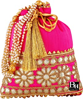 Bombay Haat Ethnic Indian Potli Bag, Wedding Purse, Evening Bag, Clutch Purse for Women for Wedding/Party and Gifting