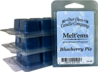 Our Own Candle Company Premium Wax Melt, Blueberry Pie, 6 Cubes, 2.4 oz (4 Pack)