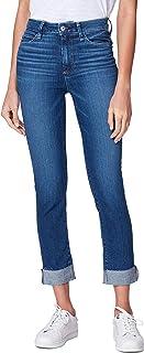 PAIGE Women's Hoxton Crop High Rise Slim Fit Jean