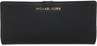 50e3ab2df63e Michael Kors Jet Set Travel Flat Slim Bifold Saffiano Leather Wallet