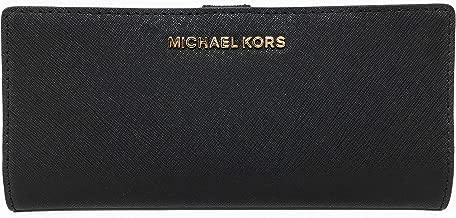Michael Kors Jet Set Travel Flat Slim Bifold Saffiano Leather Wallet