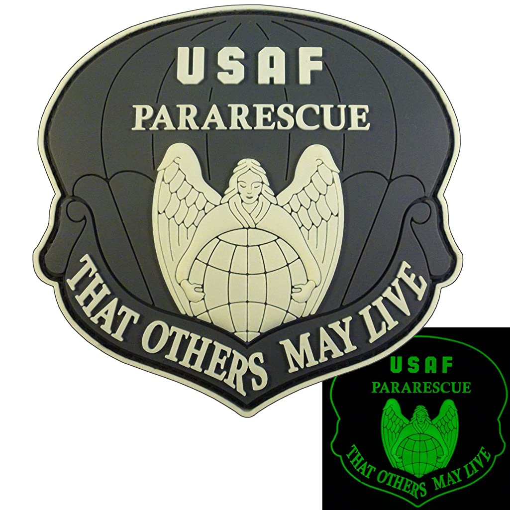 THAT OTHERS MAY LIVE USAF Pararescue Glow Dark GITD PJ PVC 3D Fastener Patch