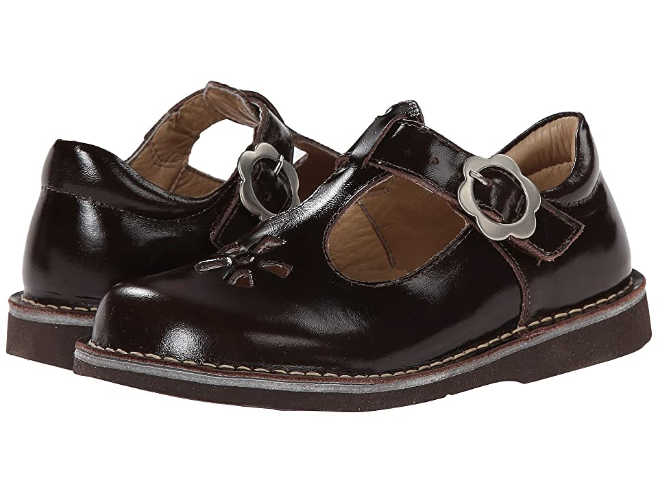 Kid Express Molly (Toddler/Little Kid/Big Kid) (Dark Brown Burnished Leather) Girls Shoes