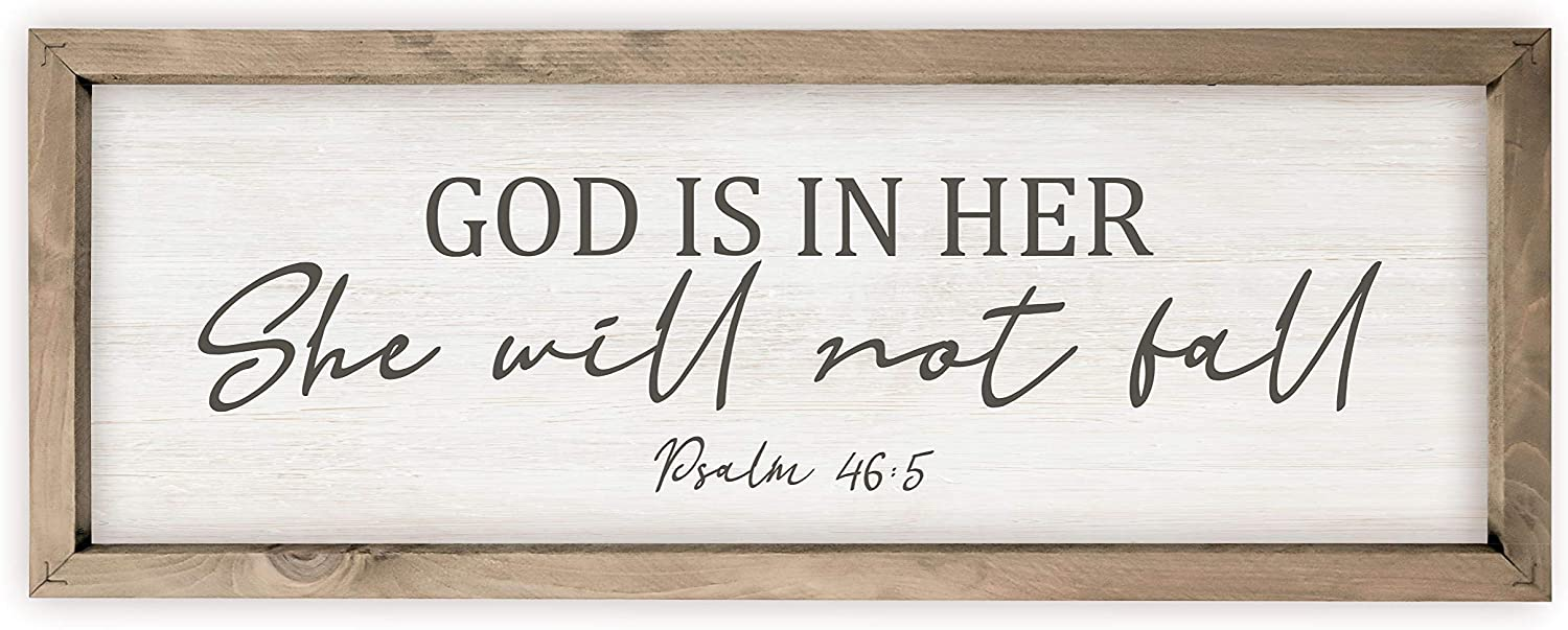 God is in Her El Paso Mall She Will Not Décor Sig Wall Product Style Rustic Wood Fall
