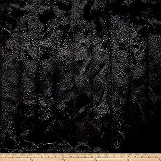 Michael Miller Mink Faux Fur Stripe Black