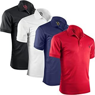 Albert Morris Mens Striped Short Sleeve Polo Shirts 4 Pack