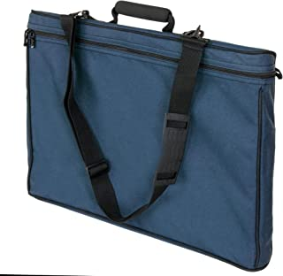 """Florence 11""""x14"""" Blue Upgrade Student Art Bag/Portfolio with Cushioned Handle and Removable Shoulder Strap"""