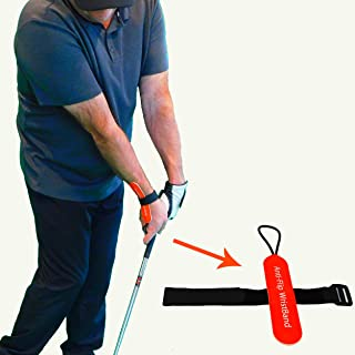 Anti-Flip Wristband | Golf Swing Training Aid for Better Impact Position | Golf Chipping Training Aid
