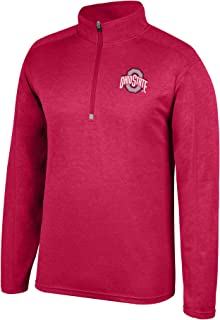 Top of the World NCAA Men's Team Color Heathered Poly Half Zip Pullover