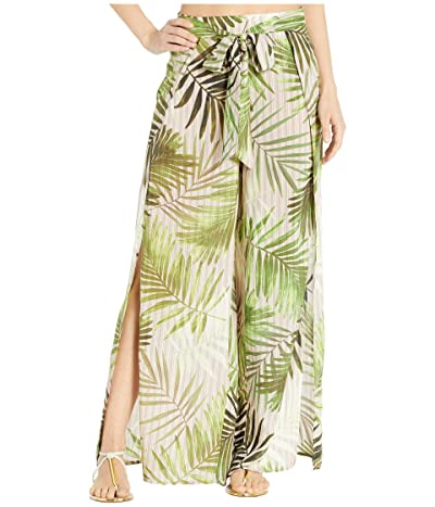 Vince Camuto Tropical Wrap Tie Cover-Up Pants w/ Slits (Fern) Women