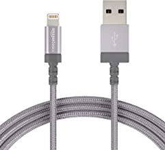 AmazonBasics Nylon Braided Lightning to USB A Cable, MFi Certified iPhone Charger, Dark Grey, 6-Foot