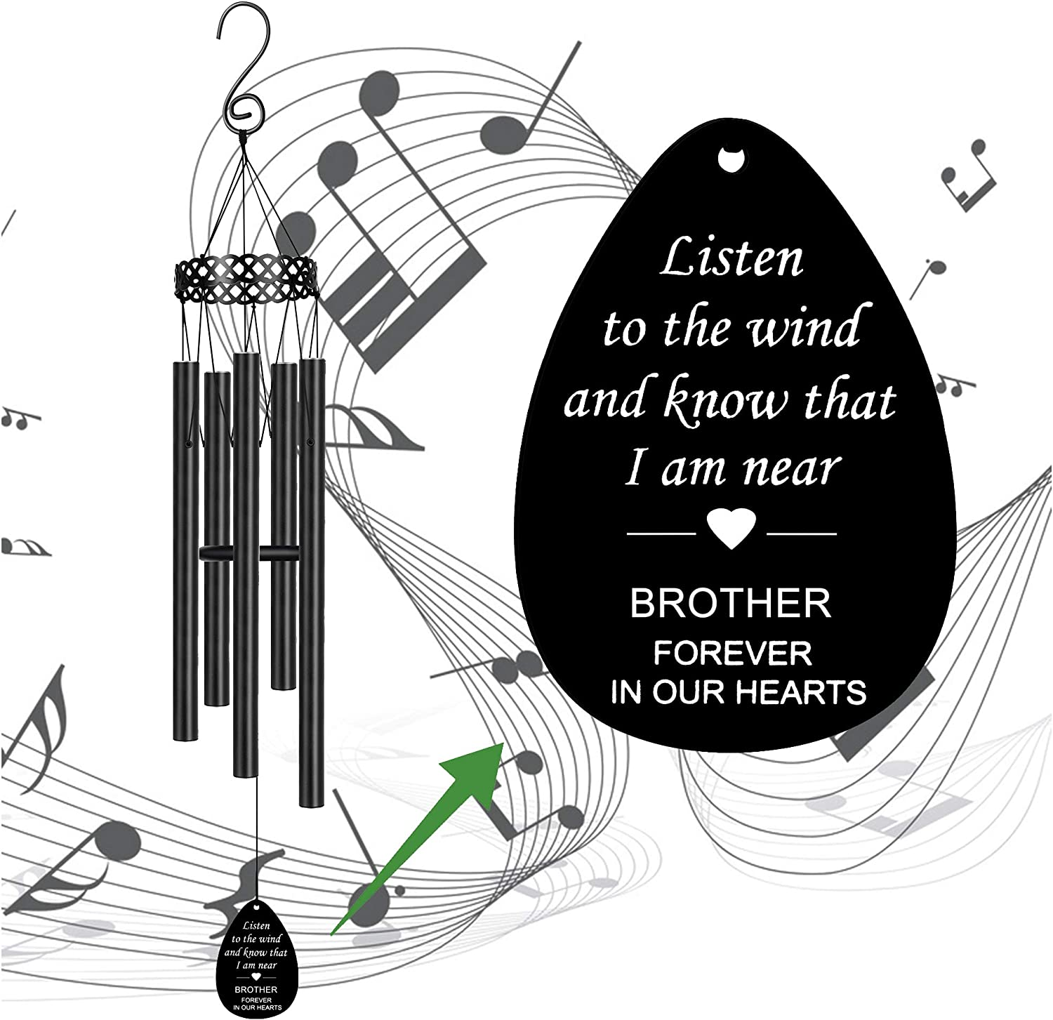 Memorial Sympathy Gifts Brohter Wind Inexpensive Chimes Br Blood Special Campaign Loss for of