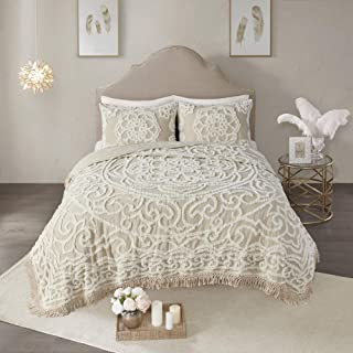 Madison Park Laetitia Chenille Tufted 100% Cotton Quilt Shabby Chic Cozy All Season Bedspread Bed Set with Matching Shams,...