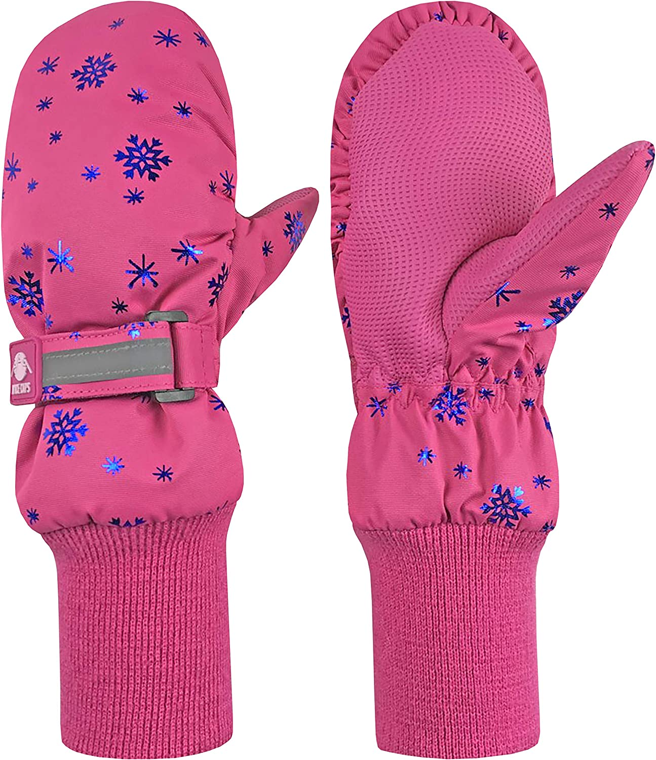 N'Ice Caps Kids Safety Reflector Thinsulate Waterproof Winter Snow Ski Mittens