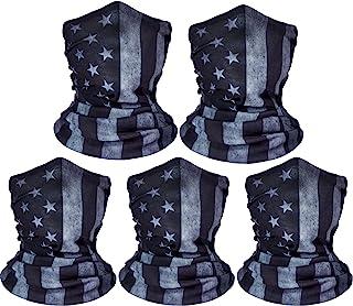 ZeeDix 5 Pcs American Flag Outdoor Bandana Face Mask-...