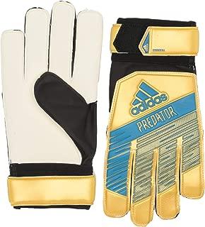 adidas Adult Predator Training Soccer Goalkeeper Gloves , Gold Metallic/Football Blue  , 12