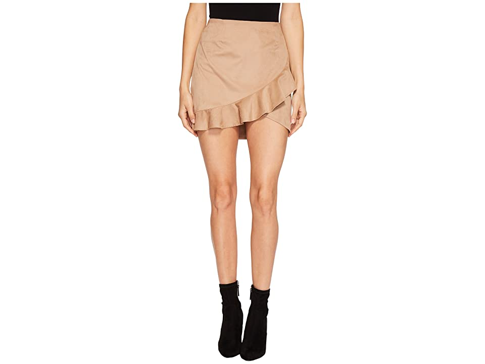 Jack by BB Dakota Khan Faux Suede Ruffle Skirt (Sienna) Women