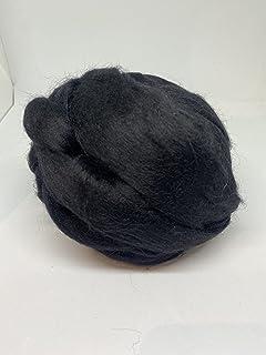 Felting Roving Fine Wool Black Wool Roving