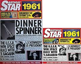 1961 Birthday Gifts Set - 1961 DVD Film , 1961 Chart Hits CD and 1961 Birthday Star Card