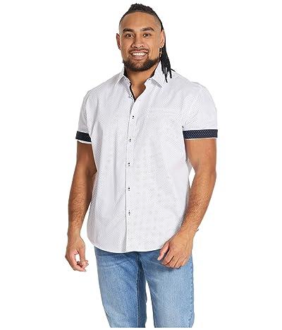 Johnny Bigg Big Tall Roscoe Print Shirt (White) Men