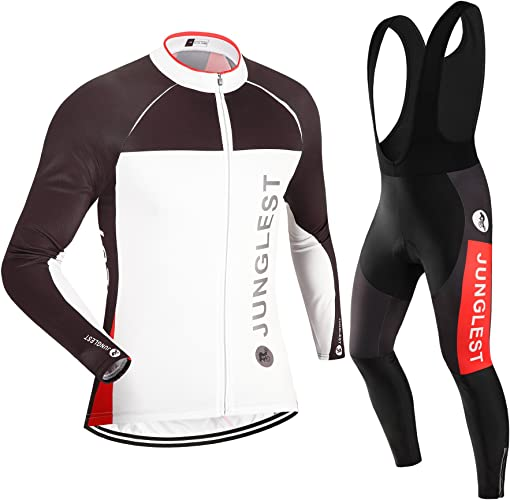 JUNGLEST Maillot de Cyclisme Homme Manches Longues Jersey(S5XL,Option Cuissard,3D Coussin) N46