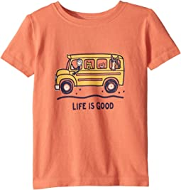 Life is Good Kids School Bus Friends Crusher Tee (Toddler)