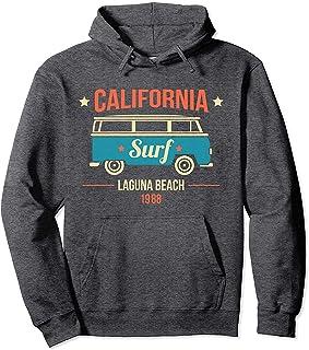 N/A Sudadera con Capucha de Moda California Laguna Beach Surf Van 1988
