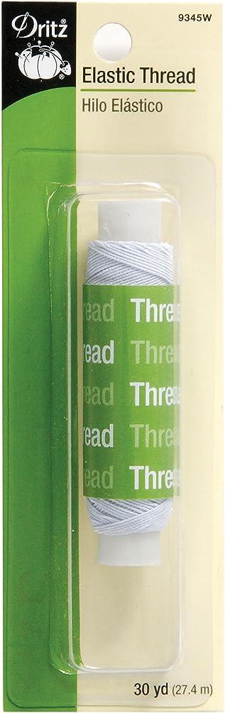 Dritz 9345W Elastic Sewing Thread, White, 30-Yard
