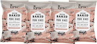 EPIC Pink Himalayan Salt Pork Rinds, Keto Consumer Friendly, 4Ct Box 2.5oz bags