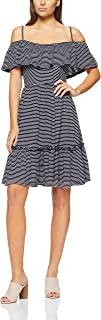 French Connection Women's Maxi Tiered Dress, Nocturnal/Summer WHI