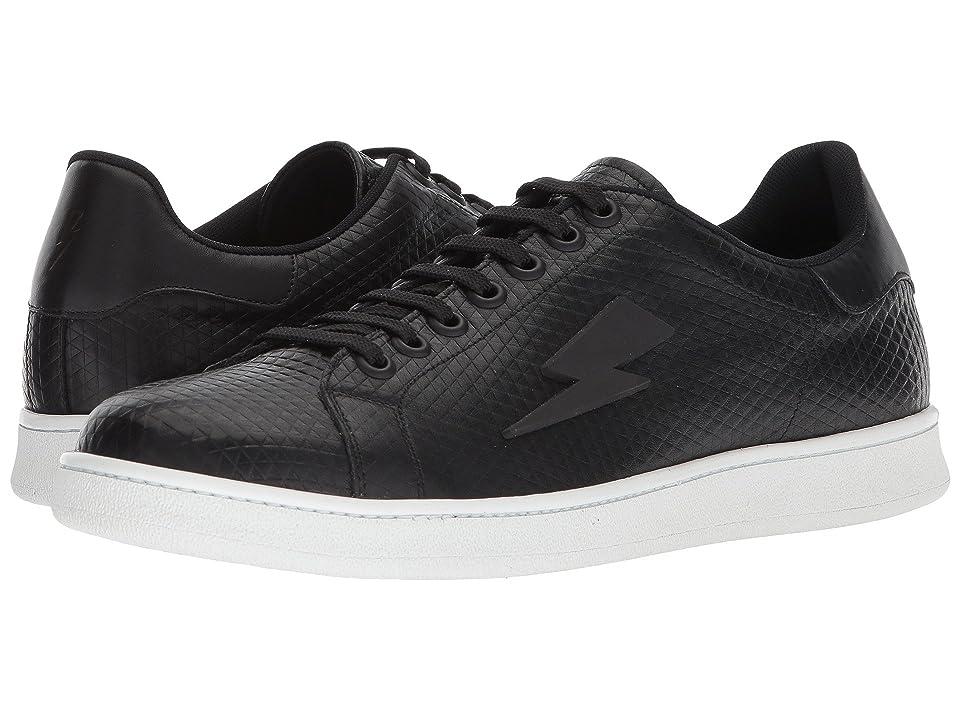 Neil Barrett Tonal Thunderbolt Tennis Sneaker (Black/White) Men