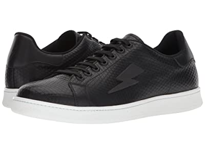 Neil Barrett Tonal Thunderbolt Tennis Sneaker (Black/White) Men