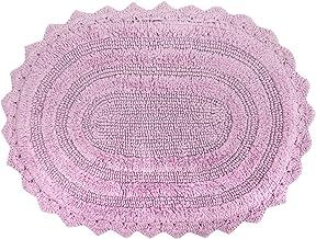 DII 100% Cotton Crochet Medium Oval Luxury Spa Soft Bath Rug, for Bathroom Floor, Tub, Shower, Vanity, and Dorm Room, 17x2...