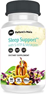 Sleep Aids for Adults Extra Strength ǀ Sleeping Pills with Melatonin, L-Theanine, 5htp 100mg, GABA & More for Insomnia & Anxiety Relief, Mood Support ǀ 60 Antidepressant Pills & Serotonin Supplement