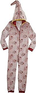 HARRY POTTER Pijamas de Una Pieza Que Brillan En La Oscuridad,Mono Infantil Entero Extra Suave con Capucha de Mago, Disfra...