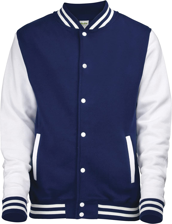 Awdis Varsity jacket - 16 Colours - Sizes XS to 2XL - Oxford Navy/White - L at  Men's Clothing store