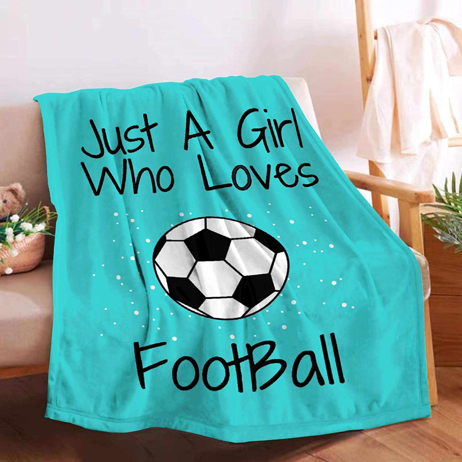 Ranking TOP17 Microfiber Flannel Throw Blanket Just Football Loves A Direct store Who Girl